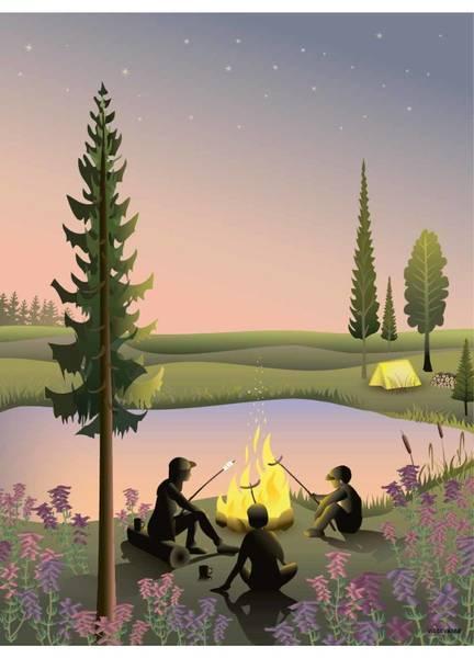 Bilde av PLAKAT - Campfire - Vissevasse