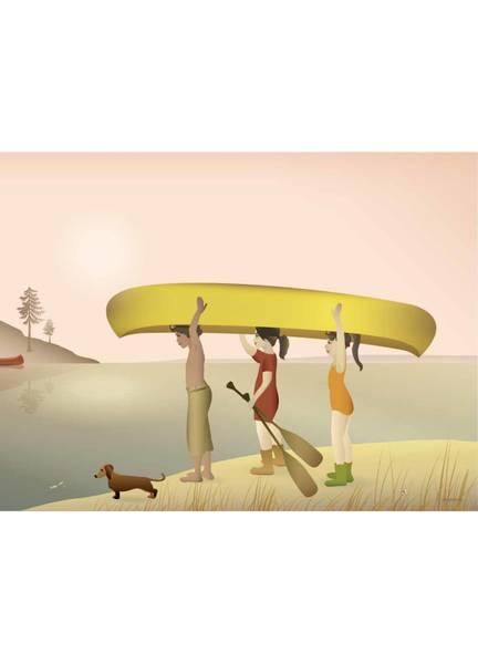 Bilde av PLAKAT - Canoe - Vissevasse
