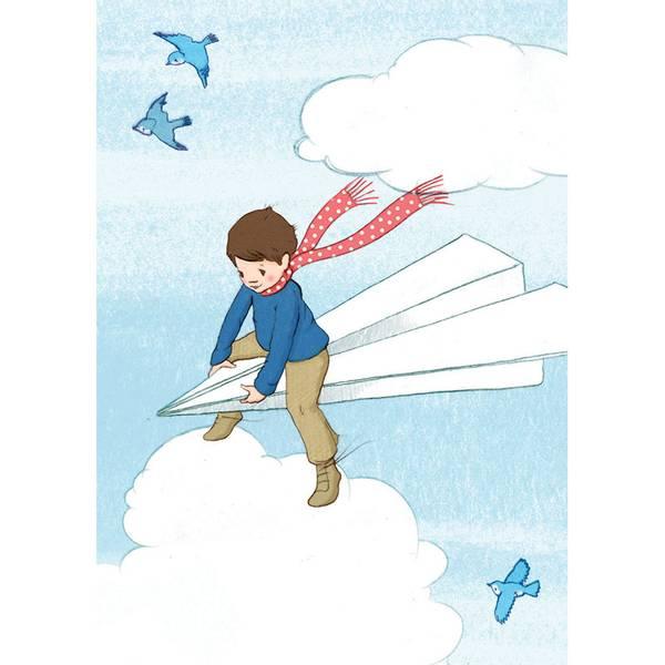 Bilde av KORT - Paper plane - Belle & Bo