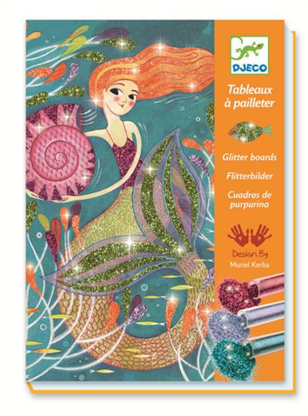Bilde av HOBBYSETT - Fargelegging Med Glitter - Havfrue - Djeco