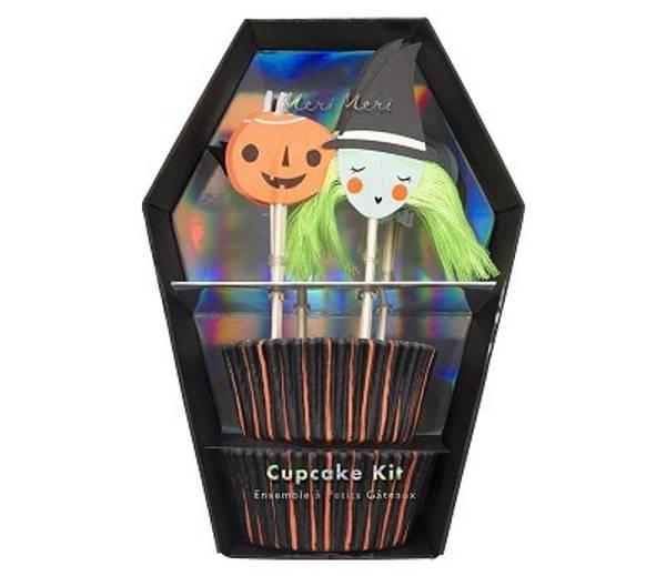 Bilde av CUPCAKE KIT - Halloween - Heks & Gresskar - Meri Meri