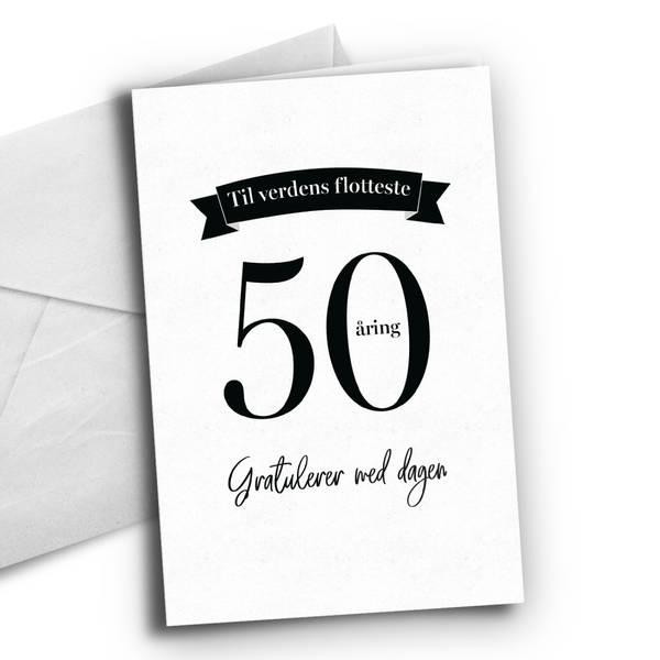 Bilde av KORT - 50 åring - Bursdagskort