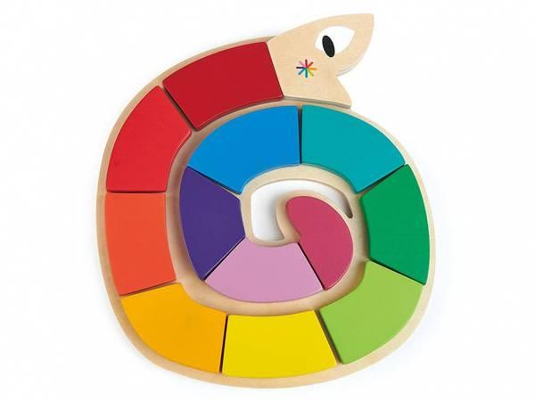 Bilde av Puslespill - Orm, Form og Farger