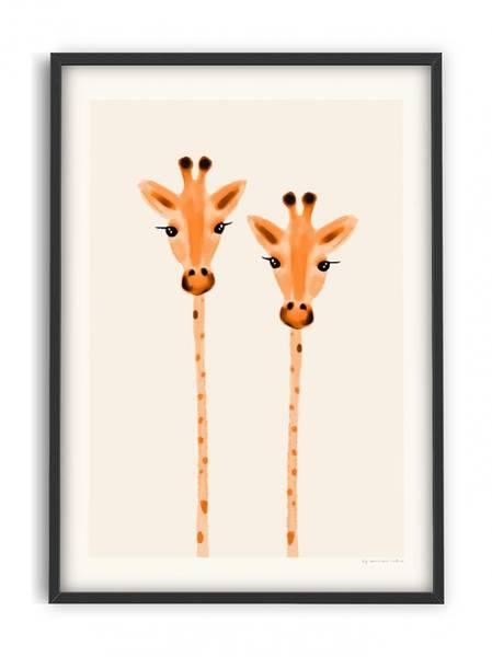 Bilde av PLAKAT - Maxime - Curious Giraffes - 50x70