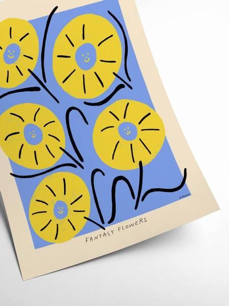 Bilde av PLAKAT - Madelen - Fantasy Flowers I - 30x40